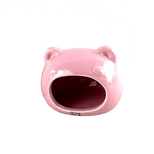 ANONE Hamster/Small Animal Hideout Hamster House Critter Bath (Pink)