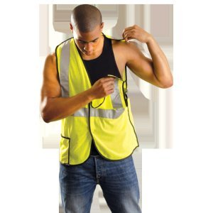 Occulux Breakaway Vest - OccuNomix Medium Hi-Viz Yellow OccuLux® Lightweight Polyester And Mesh Class 2 Break-Away Vest With Front Hook And Loop Closure, 2