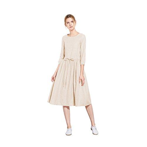 3/4 sleeve linen dress - 5