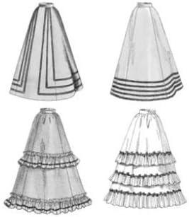 Butterick 3418 período auténtico Victoriano falda/vestido patrones ...