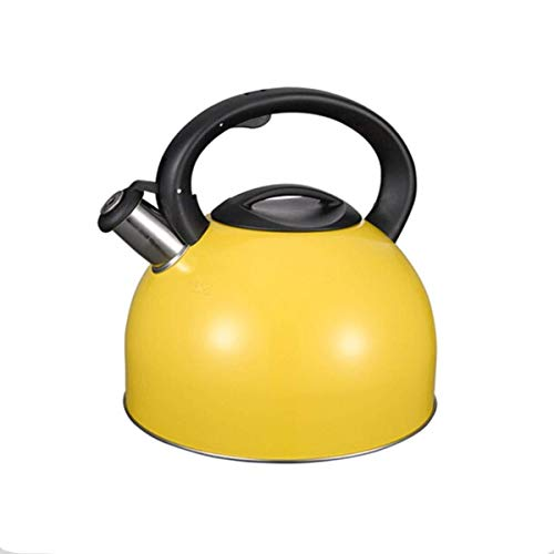 Tea Kettle Stove-top Stainless Steel Hot Water Kettle Coffee Kettle Gooseneck Sound Safe and Reliable Water Boiler for Your Apartment (Color : Yellow)