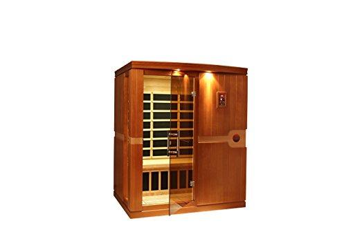 DYNAMIC SAUNAS AMZ-DYN-6310-01 Madrid 3-Person Far Infrared Sauna - Curbside Delivery