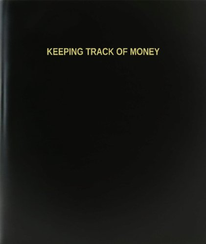BookFactory® Keeping Track Of Money Log Book / Journal / Logbook - 120 Page, 8.5''x11'', Black Hardbound (XLog-120-7CS-A-L-Black(Keeping Track Of Money Log Book)) by BookFactory