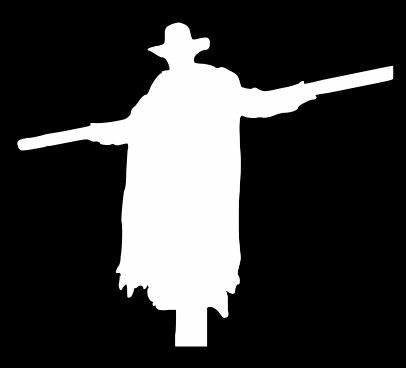 Jeepers Creepers Halloween White Decal Vinyl Sticker|Cars Trucks Vans Walls Laptop| White |5.5 x 5 in|LLI621]()