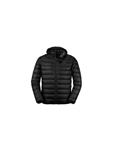 Eddie Bauer Men's CirrusLite Down Hooded Jacket, Black Regular XL