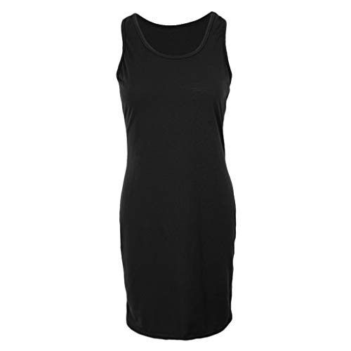 Long Womens MagiDeal Vest Black Dress Loose Stretch Casual Sleeveless 4d0cv7rqw0