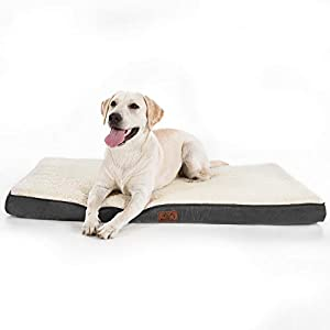 Bedsure Large Dog Bed for Large Dogs Cats Up to 75lbs – Orthopedic Big Dog Beds with Removable Washable Cover, Egg Crate…