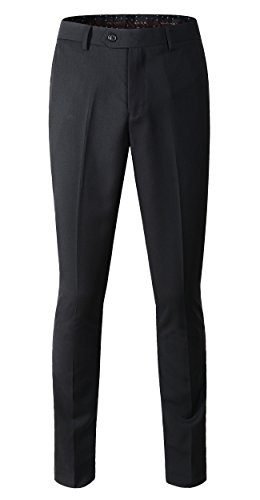Benibos Men's Stretch Modern-Fit Flat-Front Pant