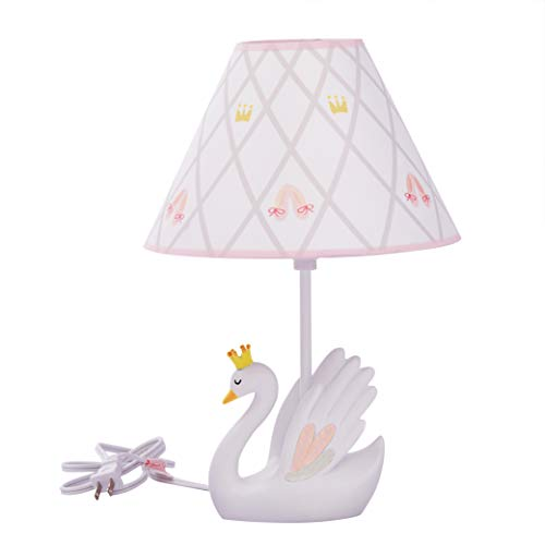 (Fantasy Fields - Swan Lake Thematic Kids Table Lamp , Inspiring Hand Painted Non-Toxic, Lead Free Water-Based Paint)