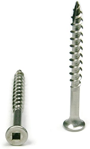 Stainless Steel Wood Deck Screws Square Drive #8 x 3'' Packedge Quantity 1000 - Quality Assurance from JumpingBolt
