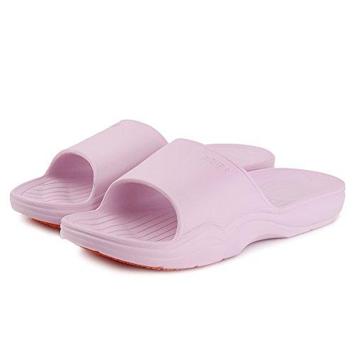 Equick Premium Dames En Heren Badslip Anti-slip Voor Binnenshuis Huis Sandaal 01purpel