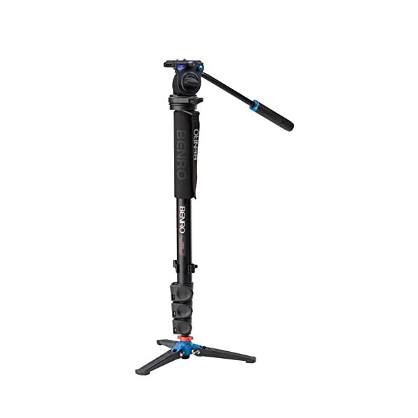 RetinaPix Benro Aluminum 3-Series Flip-Lock Video Monopod Kit and S2 Video Head