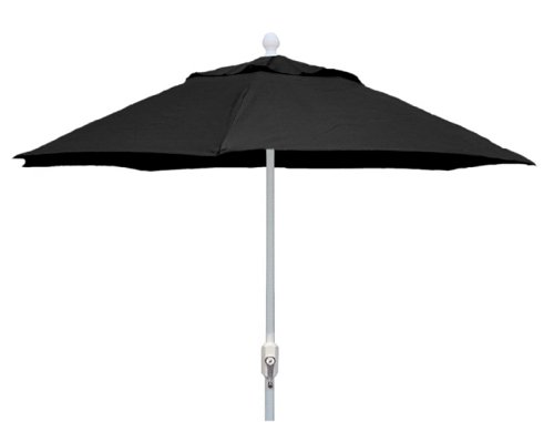 Market Umbrella Fiberbuilt (FiberBuilt 9HCRW-BLK 9-foot Market Umbrella,Black)