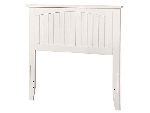 Atlantic Furniture AR282822 Nantucket Headboard, Twin, White ()