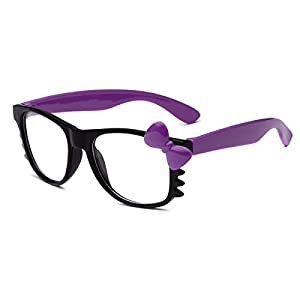 Hello Kitty Kids Baby Toddler Clear Lens Sunglasses Age up to 4 years - Black & Purple