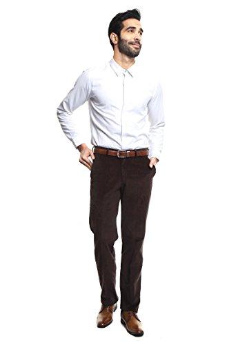 625191005c9d9 Perry Ellis Pantalón Café Pantalones para Hombre Café Talla 42   Amazon.com.mx  Ropa