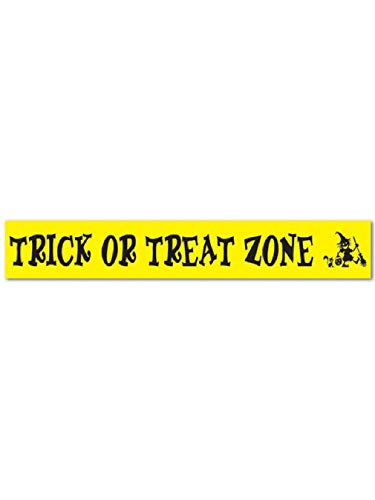 (Trick Treat Zone Party Tape Halloween Decoration 3