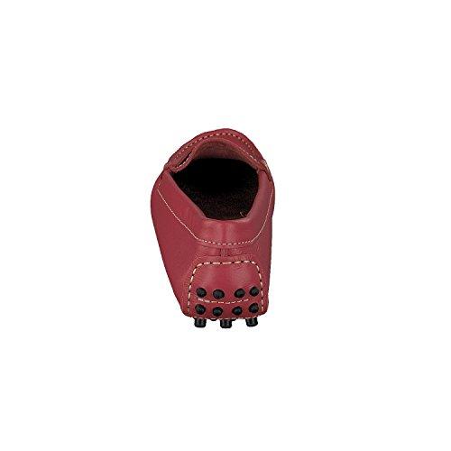 Scarpa Linea Piel Rojo Mujer Mocasín d00qR