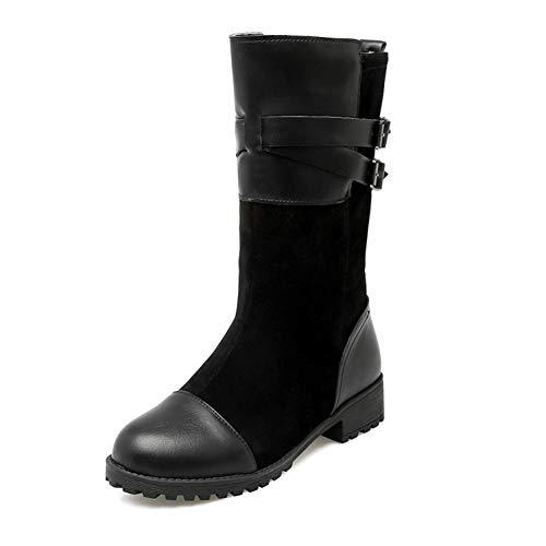 Féminines Mi Rond A Tête D'hiver Chaud Épreuves bottes Bottes EEvrCq7x
