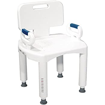 Amazon.com: Drive Medical Premium Series Shower Chair with Back ...