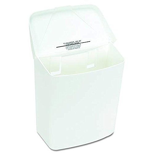 Hospeco Feminine Hygiene Receptacle, White ABS Plastic, 250-201W (2-Pack) by Hospital Specialty Co. (Image #3)