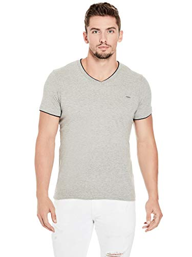 (GUESS Factory Men's Armin Heathered V-Neck Tee)