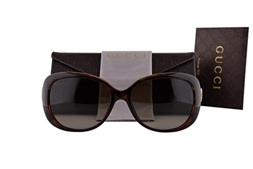 Gucci GG3644/N/S Sunglasses Havana w/Brown Gradient Lens DWJHA GG 3644/N/S For - Sunglasses Retro Gucci 62mm