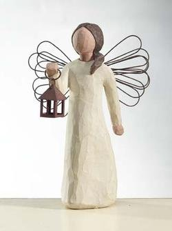 """Angel of Hope by Willow Tree #26040 """"Angel with guiding Lamp Lantern Light"""" For Sale"""