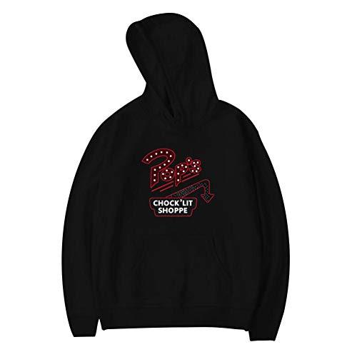 NJLLOS Youth Pullover Hoodie River-Dale Pop's Chock'lit Shoppe Long Sleeve Fleece Hoody Print Sweatshirt Black ()