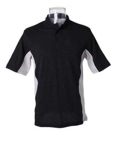 Kustom Kit–Gamegear® KK475Track Polo Shirt Schwarz/Grau/Weiß 3X L