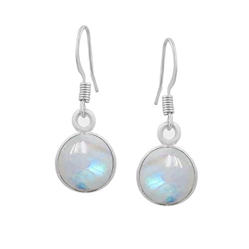 Moonstone Dangle Earrings 925 Silver Plated Handmade Jewelry For Women - Dangle Moonstone