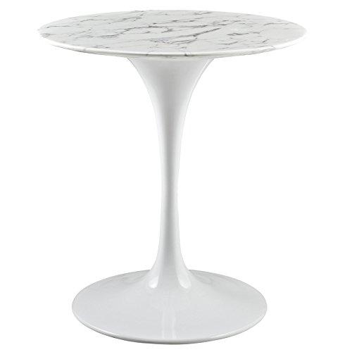 Modway 20″ Lippa White Marble Side Table 311WDXHQmnL