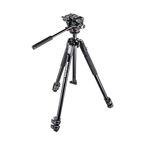 Manfrotto 190X Aluminum 3-Section Tripod Kit with XPRO Fluid Head (MK190X3-2W)