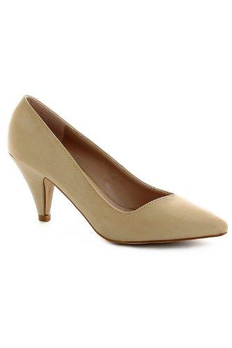 Go Tendance Women's Court Shoes Beige D43Xy