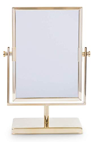 West Emory Estate Collection Petite Golden Double Sided Rectangular Flip Mirror for -