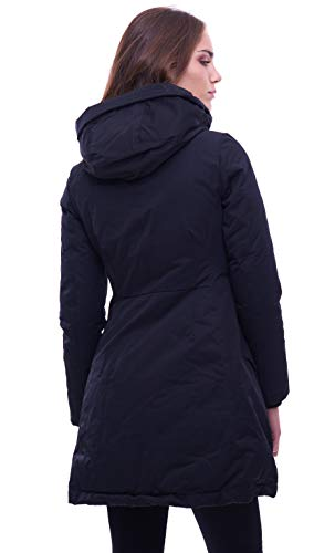 Jacket With Parka Down Hood Black Add HEqvTUwxAn