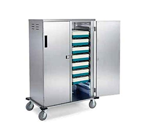 (Lakeside 5720 Stainless Steel Elite Series Tray Delivery Cart; (2) Compartment (1) Trays Per Ledge - 20 Tray Capacity)