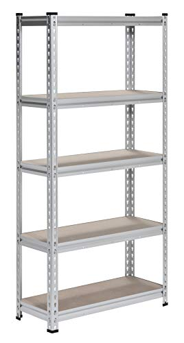 Muscle Rack UR301260L5-AL Aluminum Heavy Duty 5-Shelf Shelving Unit