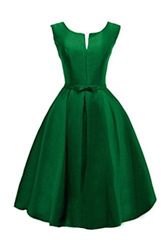 Green Jewel Hunter Bridesmaid Simple Avril Dress up Dress Sleeveless Party Satin Lace BPvtq