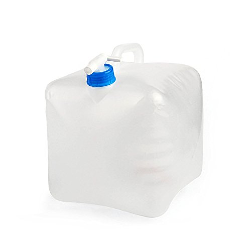 1.25 Gallon/5L 2.5 Gallon/10L 5 Gallon/20L Collapsible BPA Free PE Water Container Portable Water Carrier Bag Water Outdoor Storage for BBQ Camping Hiking Climbing Picnic Emergencies