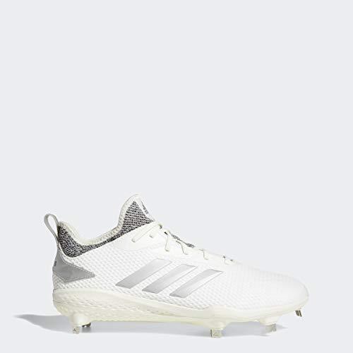 adidas Mens Adizero Afterburner V Baseball Shoe, Cloud White Grey, 12 M US