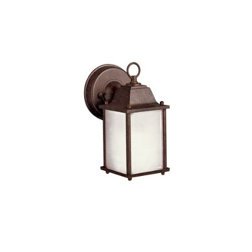 Kichler Lighting 10923TZ New Street 1LT CFL Exterior Wall Lantern, Tannery Bronze Finish with Satin Etched Glass by Kichler