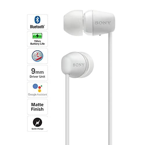 Sony WI-C200 Wireless Neck-Band Headphones with up to 15 Hours of Battery Life – White 3