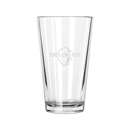 Franklin & Marshall Libbey Pint Glass 16oz 'Diplomats Official Logo Engraved' by CollegeFanGear