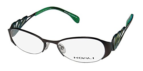 [Koali 6915k Womens/Ladies Optical Popular Design Designer Half-rim Eyeglasses/Eyewear (52-18-135, Black / Blue /] (Michael Jackson Black Or White Costume)