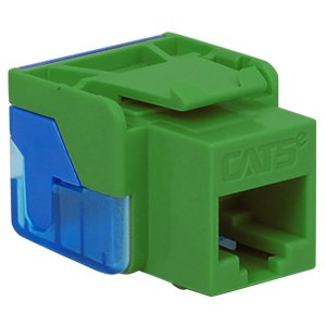 6 Pack IC1078E5GN - Cat5 Jck GREEN (Catalog Category: Installation Equipment / Wall Jacks/Inserts)