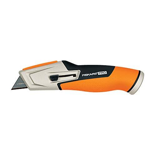 Fiskars 770020-1001 Pro Utility Knife, Retractable, Orange/Black