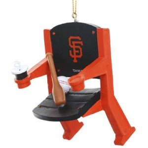 San Francisco Giants Official MLB 4 inch x 3 inch Stadium Seat Ornament ()