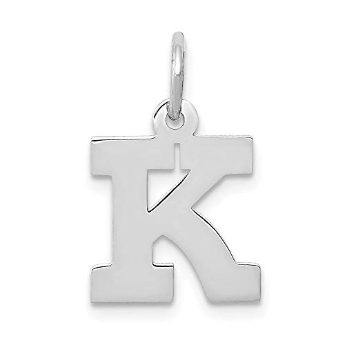 Jewelry Pendants & Charms Themed Charms 14k White Gold Small Block Initial K Charm ()