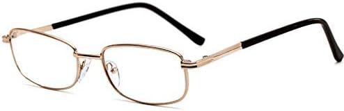 男性と女性用の老眼鏡ファッション長方形フレーム合金素材非常に透明元の色を復元視覚補助| + 1.0、+ 2.0、+ 3.0ジオプター